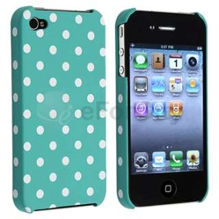 Blue White Dot Case+Privacy Filter Screen Protector Guard For Apple