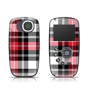 Red Plaid Design Protective Skin Decal Sticker for Kodak PlaySport Zx5
