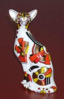 Paul CARDEW, Cool Catz Art Deco, porcelain cat figurine made in
