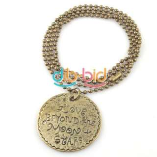 Charming Jewelry Ancient Style Cute Round Tag Pendants Necklaces Hot