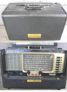 ZENITH T600 TRANS OCEANIC TUBE RADIO    looks good
