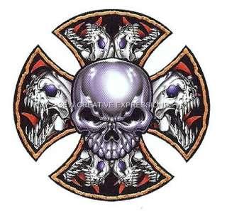 Chopper Skull Blade   Biker/Attitude T Shirt