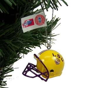 LSU TIGERS OFFICIAL LOGO MINI HELMET CHRISTMAS ORNAMENT 4