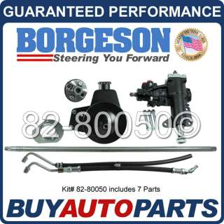 GENUINE BORGESON POWER STEERING CONVERSION KIT FOR 65 66 FORD MUSTANG