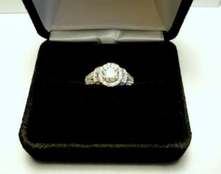 14k White gold ring 1.56 ctw round brilliant GIA certified diamond