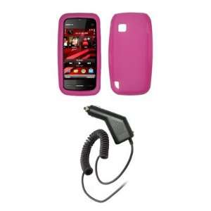 Nokia Nuron 5230   Premium Hot Pink Soft Silicone Gel Skin Cover Case