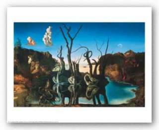 ART Swans Reflecting Elephants c. 1937 Salvador Dali