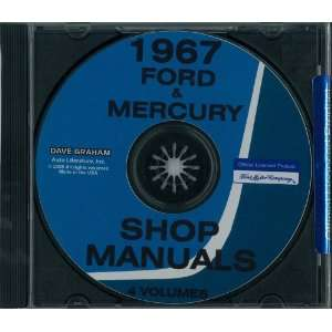 1967 FORD GALAXIE LTD THUNDERBIRD MERCURY Shop Service Manual Book CD