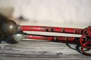 Pair Horses Red Painted Metal Hames 19 22 Collar Draft Horses