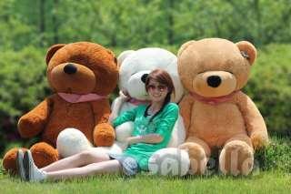 CUTE~Large TEDDY SLEEPY BEAR Plush Toy 44 White/Brown