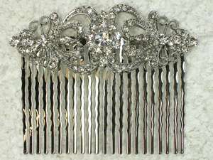 CRYSTAL HAIR COMB 4 BRIDAL BRIDESMAID WEDDING PROM PARTY L56
