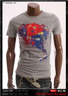 DOUBLJU Mens Short Sleeve T shirts Tee Collection 1