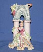 Vintage Art Deco German Porcelain Bisque Woman Figurine