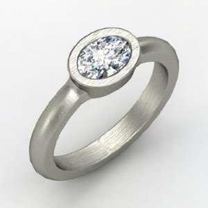 Byzantium Ring, Oval Diamond Platinum Ring Jewelry