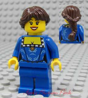 MINIFIG   Blue Torso & Legs w/Dark Brown Hair Princess Girl