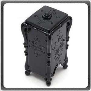 Anna Sui Cosmetic Make up Cotton Pad Storage Box Black