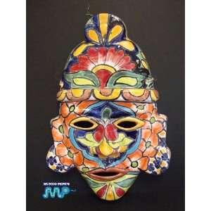 MEXICAN TALAVERA Ceramic Mask Dia de Los Muertos 14 [Day of The Dead