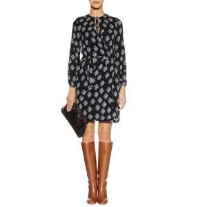 DVF Diane Von Furstenberg NOVE Silk Wrap Dress Gem Rain 8 US / 12 UK