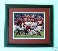 Alabama Football Daniel Moore Rocky Stop print framed