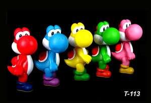 Game Super Mario Bro Yoshi Action Figure Toys 5 colors 12CM