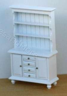 Dollhouse Miniature White Painted Wood Buffet