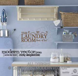 LAUNDRY ROOM Vinyl Wall Quote Decal LOADS OF FUN