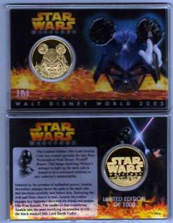 Star Wars Weekends 2005 Gold Coin Disney LTD 1000