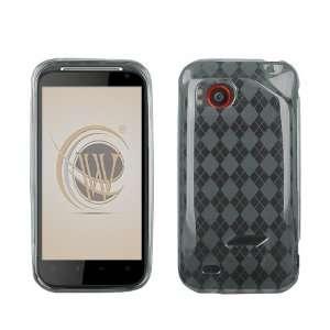 VMG HTC Rezound TPU Rubber Skin Case 2 ITEM COMBO Smoke