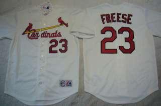 MAJESTIC St Louis Cardinals DAVID FREESE SEWN Baseball Jersey WHITE