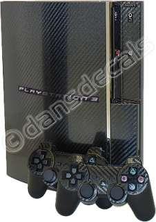 CARBON FIBER SKIN for PS3 Playstation 3 system mod kit