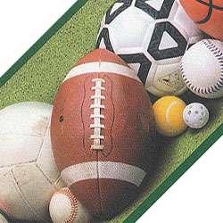 nEw SPORTS BALLS Soccer Tennis Decor WALL PAPER BORDER