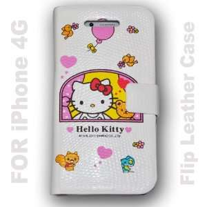 Hello Kitty Flip Leather Case Hard Case Cover for Apple Iphone4 4g   F