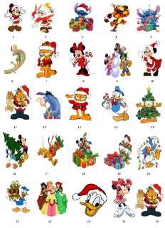CARTOON DISNEY CHRISTMAS Return Address Labels Tags