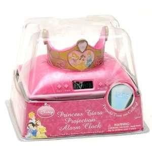 Walt Disney Princess Tiara Desktop Alarm Clock and Princess