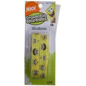 Nickelodeon Spongebob Squarepants Kids Yellow Shoe Laces   Spongebob