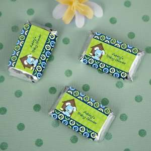 Boy Puppy Dog   20 Mini Candy Bar Wrapper Sticker Labels Baby Shower