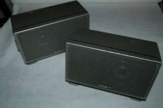 Set 2 Vintage Sony SS X2A Magnetically Sheilded Wall Mount Speakers