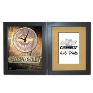 Chevy Logo Shadow Box Clock w/ Frame