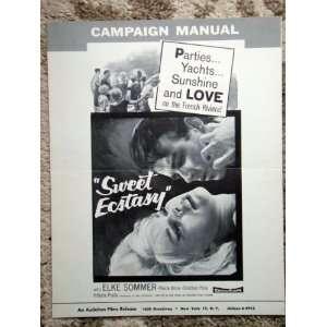 Ecstacy Original 1962 Vintage Pressbook Elke Sommer: Everything Else