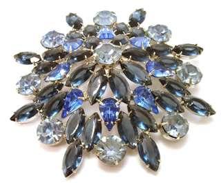 Huge Sapphire Blue Navette Chaton ProngSet Rhinestone Jewelry