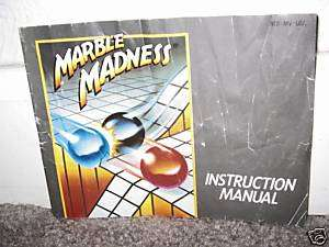 MARBLE MADNESS INSTRUCTION MANUAL/BOOKLET Nintendo Nes