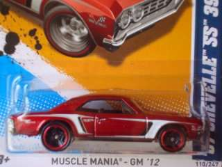 Hot Wheels 2012 Kmart Days Muscle Mania Series 67 Chevelle SS 396 Red