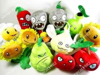 Brand New 10 PCS Figures Plants Vs Zombies 7   11 Cotton Plush Soft