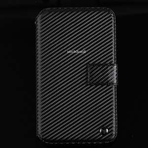 Zenus Prestige Carbon genuine Leather Wallet Case For Samsung Galaxy