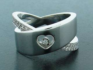Chic CHOPARD DIAMOND & WHITE GOLD Happy Diamond RING