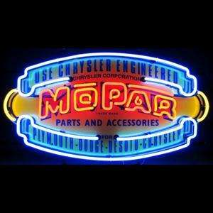 Mopar Logo Neon Sign / New Full Color Vintage Shield Chrysler Mopar