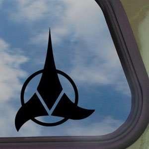 KLINGON Star Trek Black Decal Enterprise Window Sticker