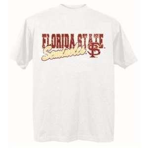 Florida State Seminoles FSU NCAA White Short Sleeve T Shirt Xlarge