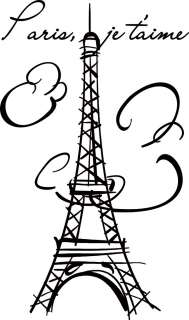 Eiffel Tower Paris Vinyl Wall Decals Stickers Art #007