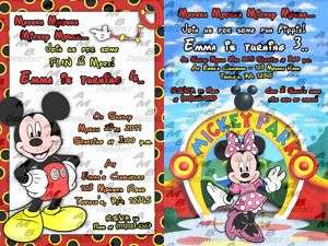 Mickey Mouse Clubhouse invitations + Party Supplies